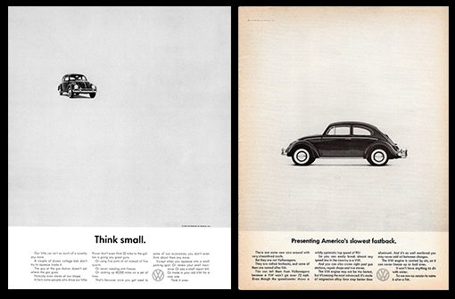 VW magazine advertising